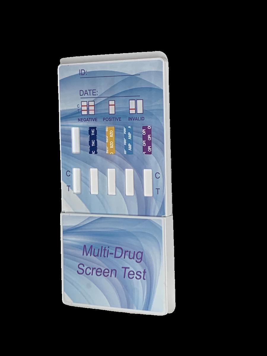 white urine drug test dip card device