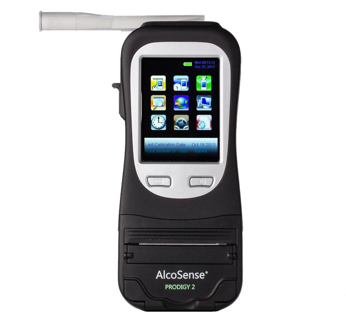 Black Breathalyser Device