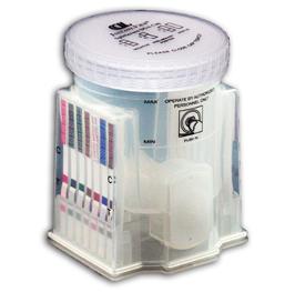 white colored urine drug test kit